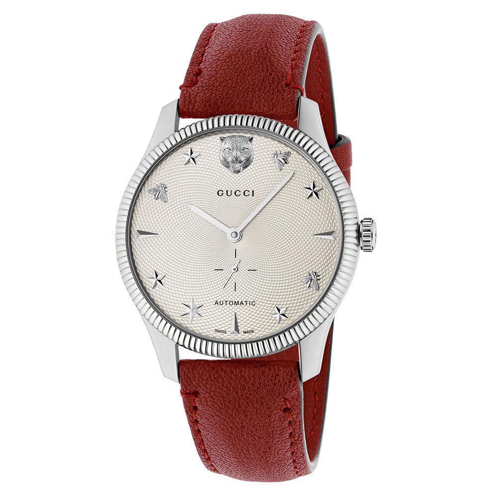 GUCCI WATCH G-TIMELESS Men's WATCH Automatic leather amaranth YA126346