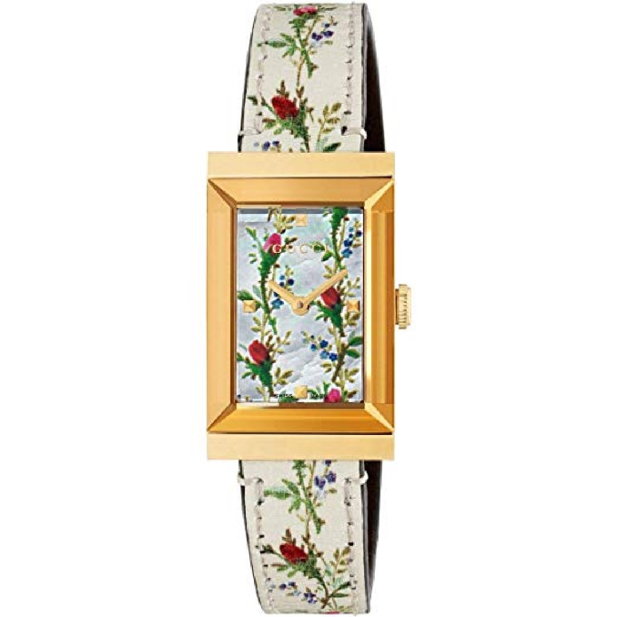 Gucci watch women's g-frame 21x34 mm floral pattern YA147407