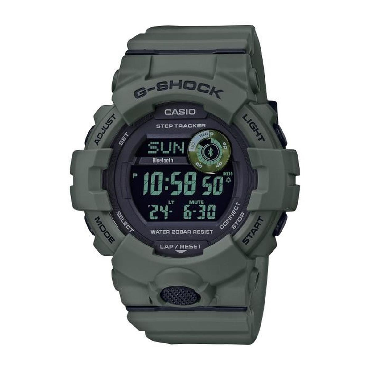 CASIO RUBBER WATCH MILITARY GREEN DIGITAL GBD-800UC-3ER