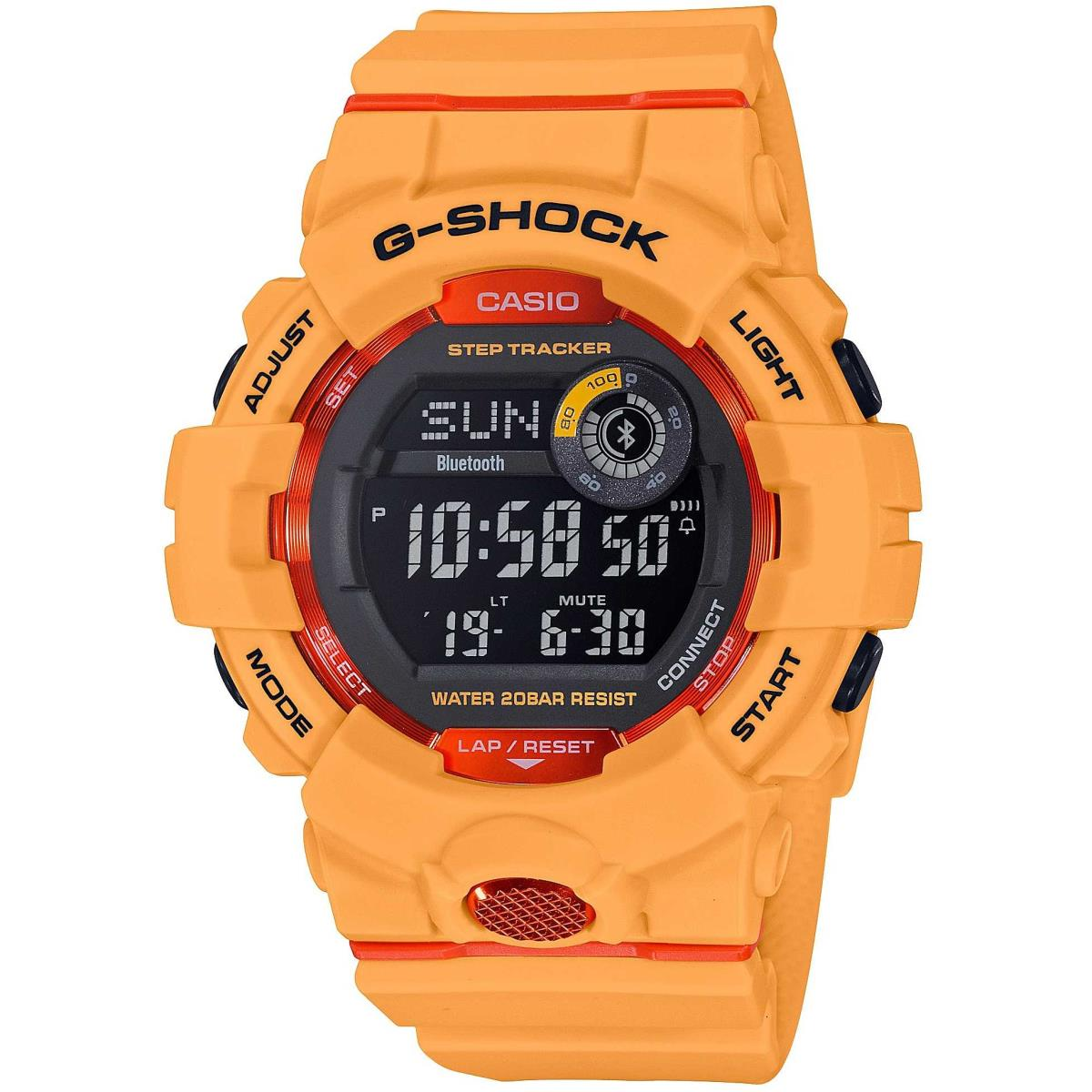 CASIO RUBBER WATCH ORANGE DIGITAL GBD-800-4ER