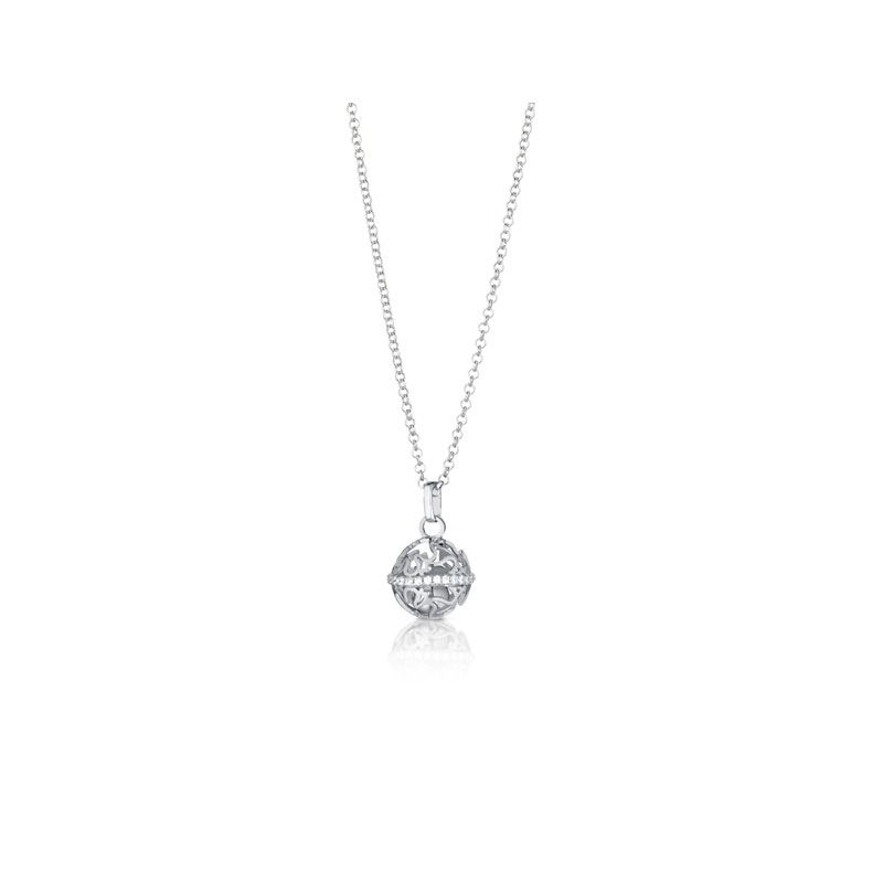 "Giannotti PENDANT NECKLACE CALLS ANGELS ""MINI"" SILVER cubic ZIRCONIA WHITE SFA114"