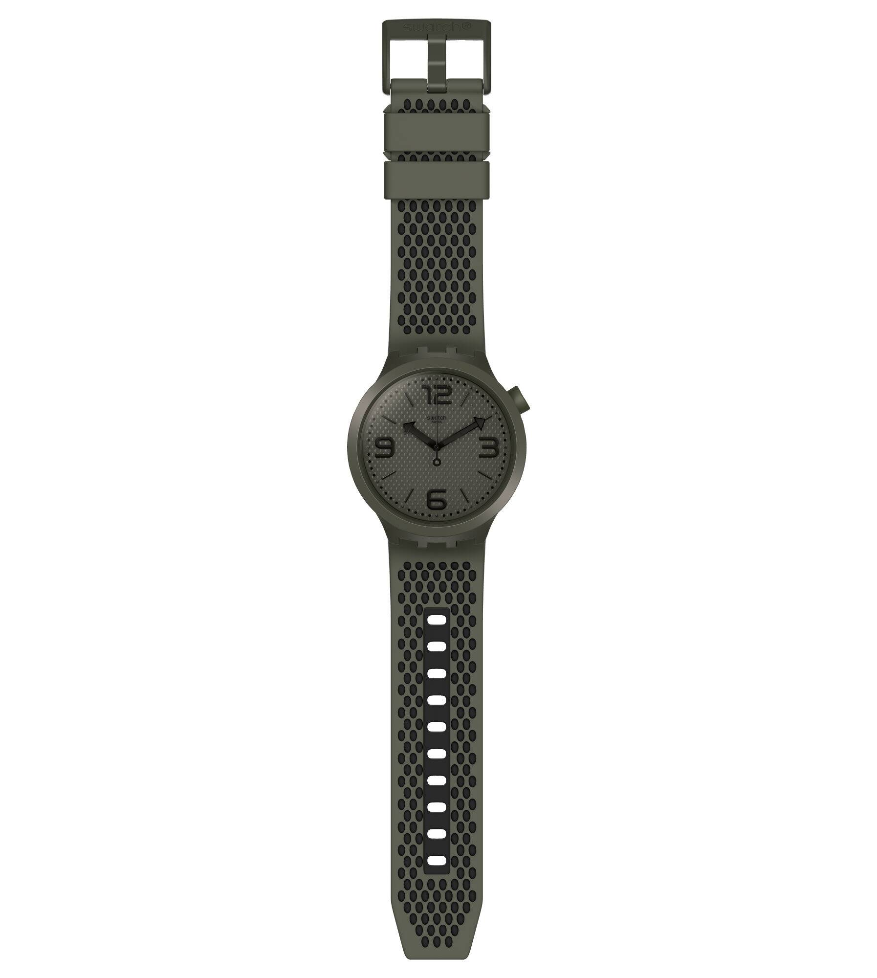 Swatch mens watch big bold green military BBBUBBLES SO27M100