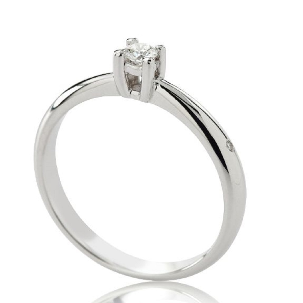 CHIMENTO RING SOLITAIRE WHITE GOLD 1AEA0052G5140