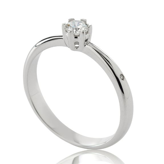 CHIMENTO RING SOLITAIRE WHITE GOLD 1AEB0151G5140