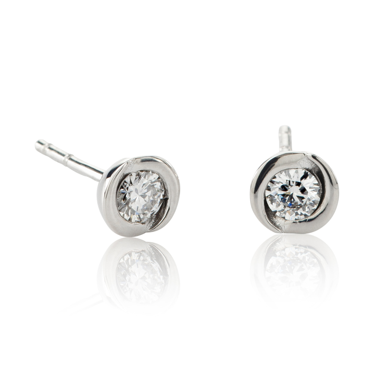 CHIMENTO PAIR EARRINGS LIGHT GOLD WHITE 1OED0072G5000