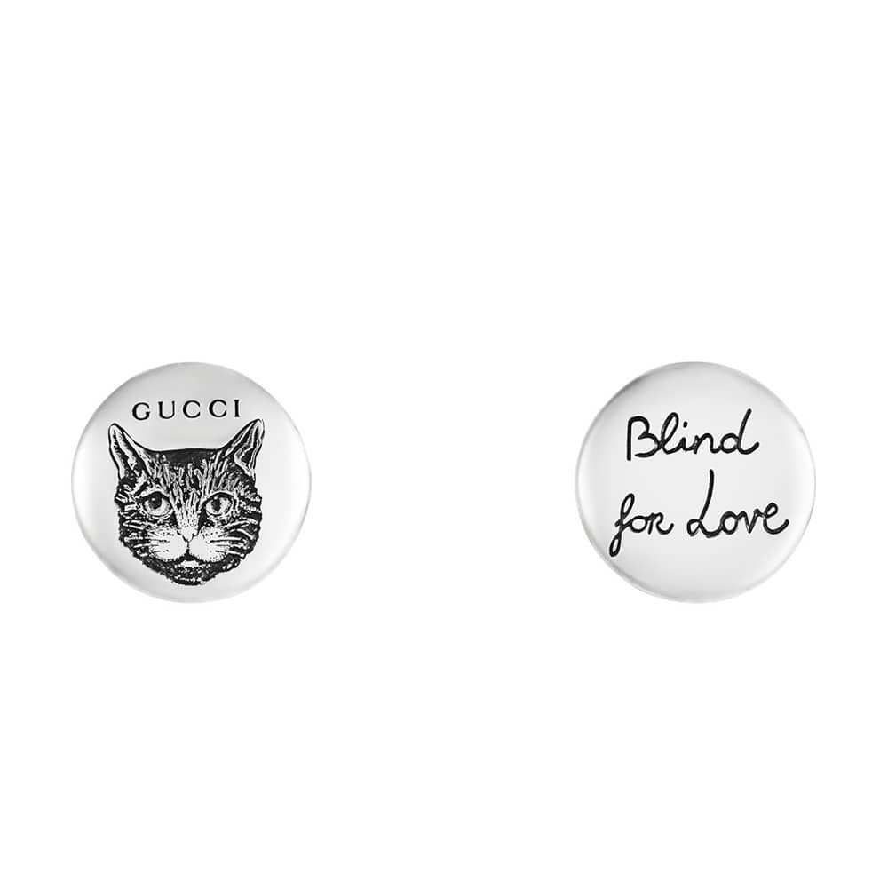 GUCCI Orecchini Donna a bottone con gatto  Blind For Love YBD49992900100U