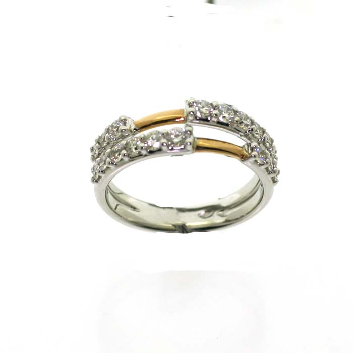 Salvini Ring white gold two eternity rings Ref. 81074940