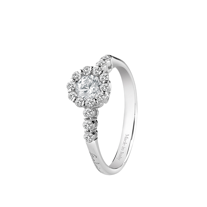 Salvini Ring in white gold with the flower, the central diamond Ref. 20063725