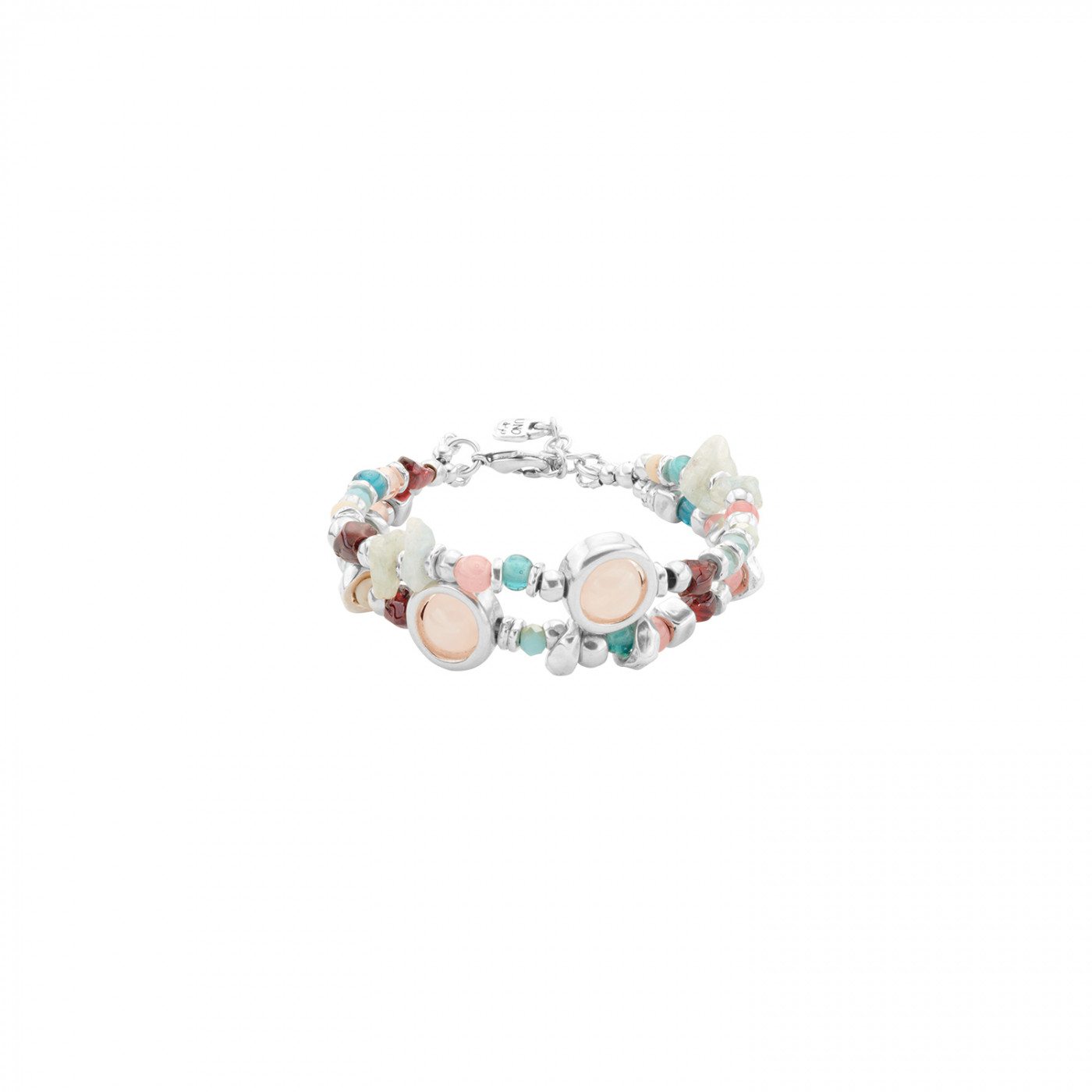 UNO DE 50 Bracelet alloy silver with natural stones Ref. PUL1847MCLMTLOM