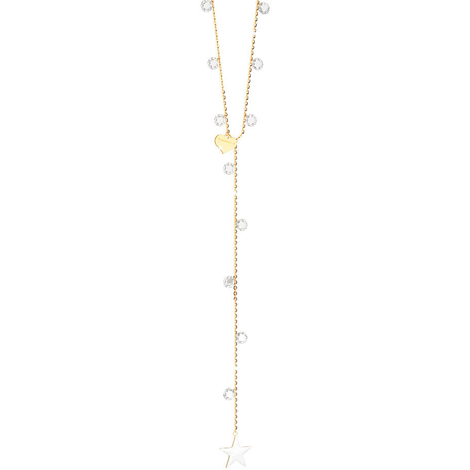 REBECCA necklace woman argent yellow gold plated Fireflies SLCKOB02