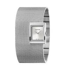 CALVIN KLAIN watch woman quartz bracelet steel CK lady mesh K9K23124
