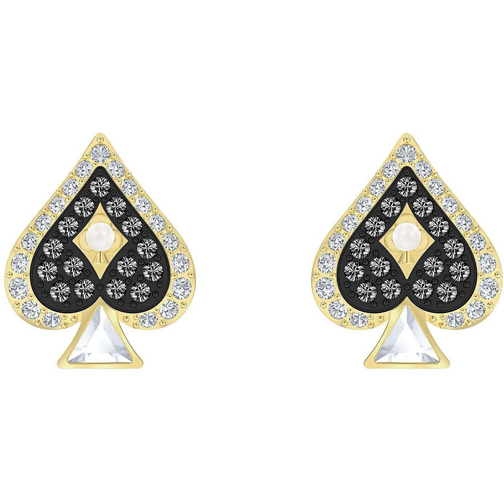 Swarovski earrings symbol spade yellow gold plated 5510067