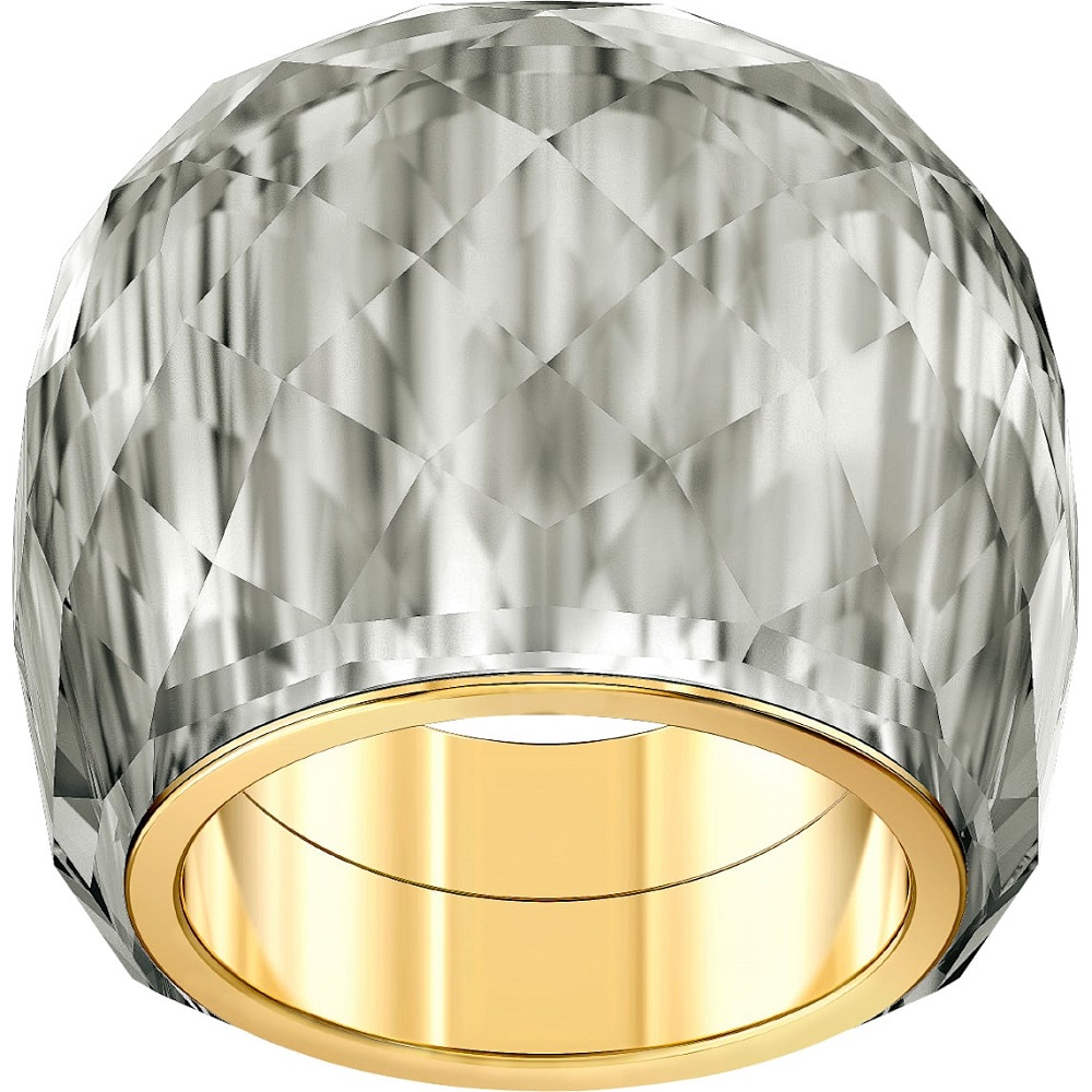 Swarovski Ring Nirvana grey PVD tone yellow gold size 55 5470027