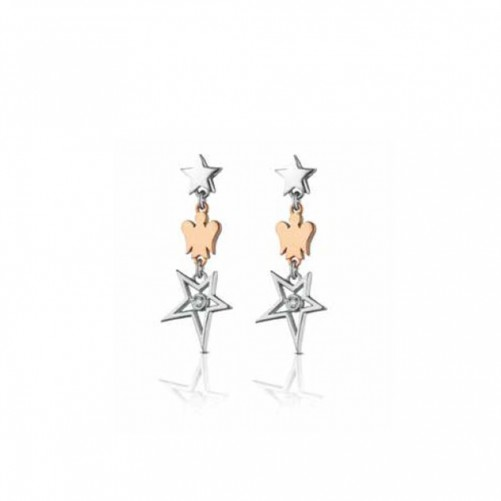 GIANNOTTI EARRINGS IN SILVER WITH ANGEL PENDANT GIA363