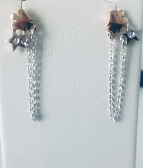 GIANNOTTI SILVER EARRINGS WITH STARS AND ANGELS GIA360