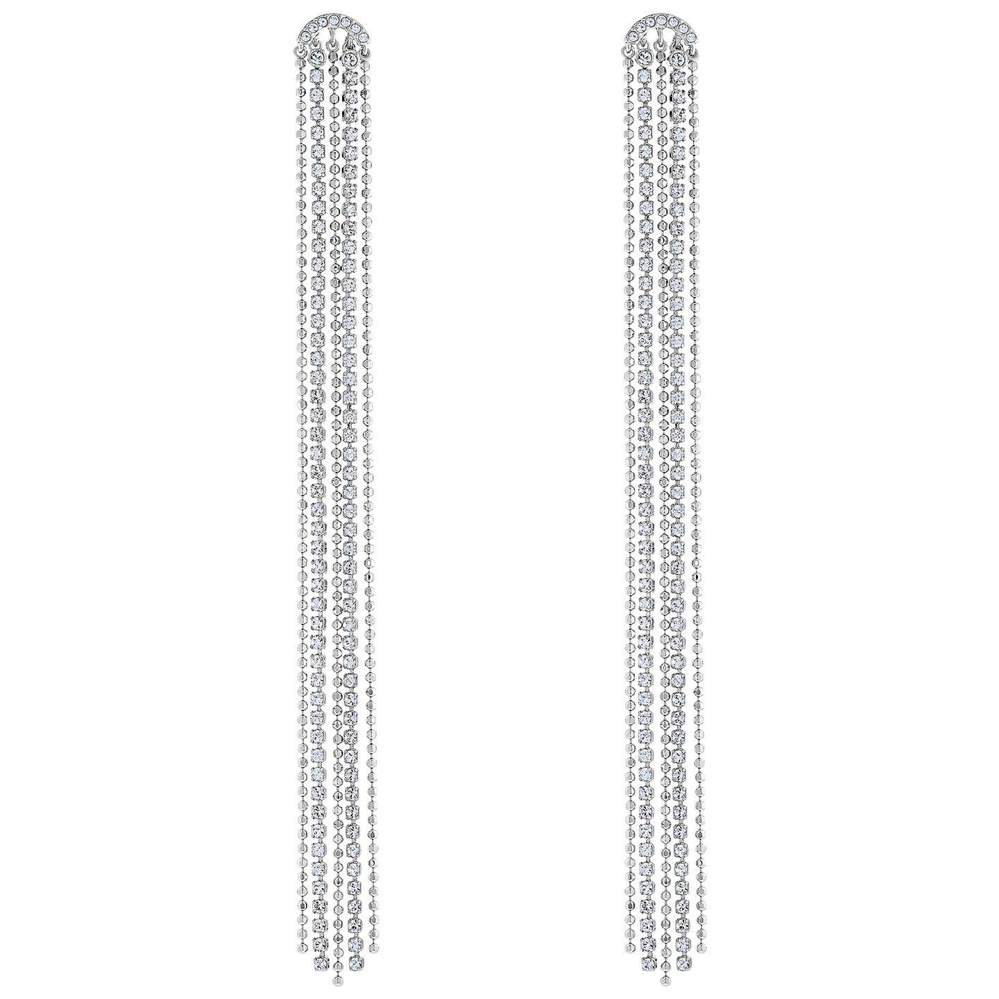 Swarovski Earrings Tassell Fit white rhodium Plating 5474378