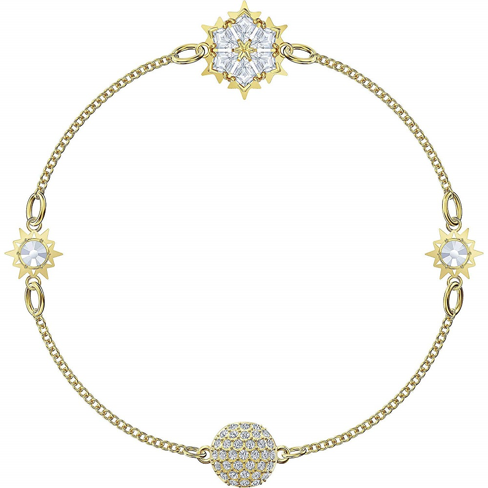 Swarovski bracelet with motifs of snowflakes gold-plated 5511095