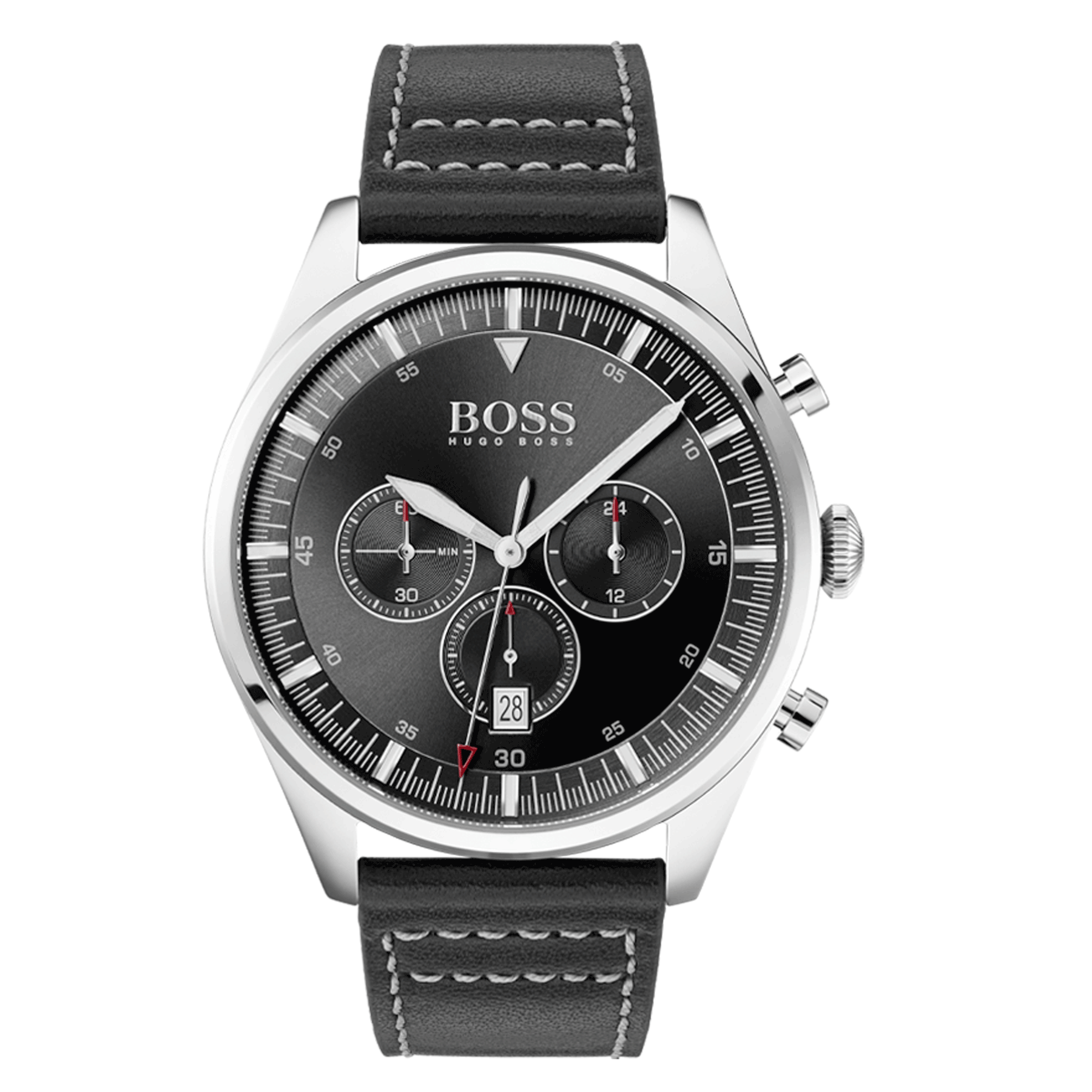HUGO BOSS Analog Watch Quartz Man with a Leather Strap 1513708