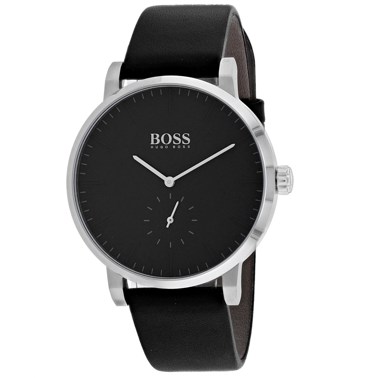 HUGO BOSS Watch solotempo black leather strap 1513500