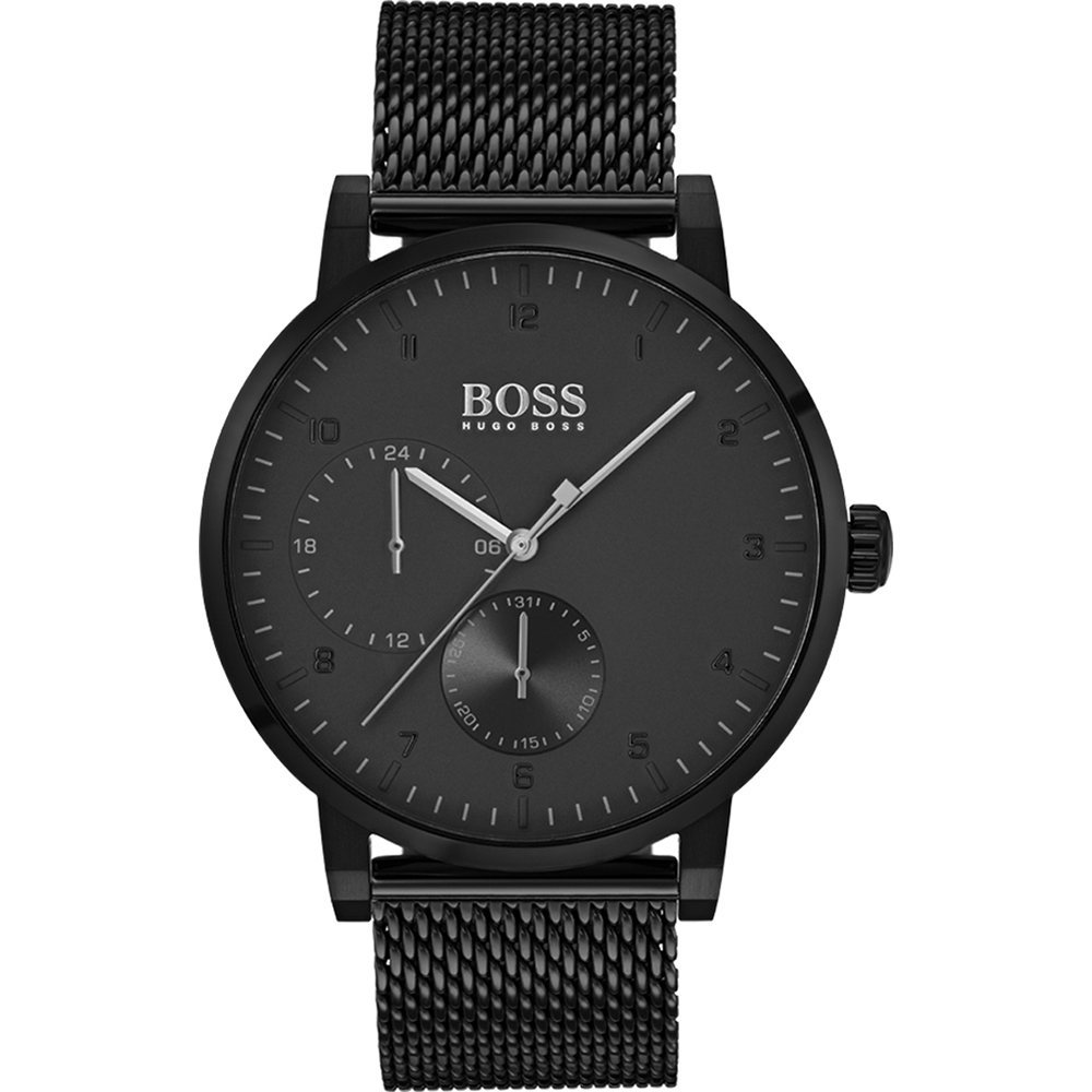 HUGO BOSS Watch only time Man Strap, jersey, milan black color 1513636