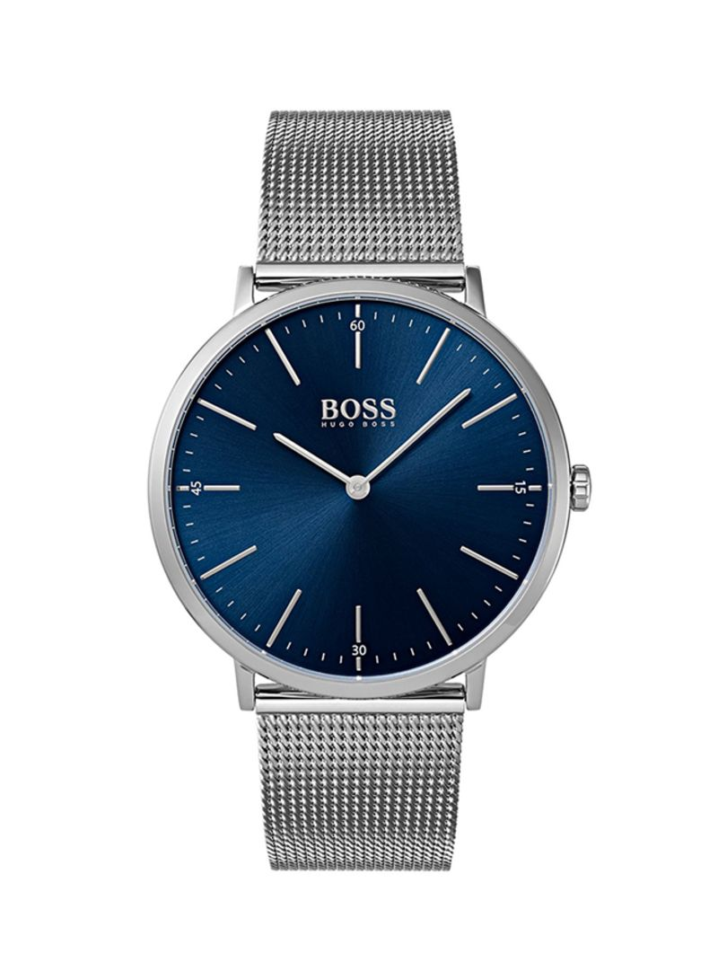 HUGO BOSS Analog Watch Men Leather Strap and black dial 1513647