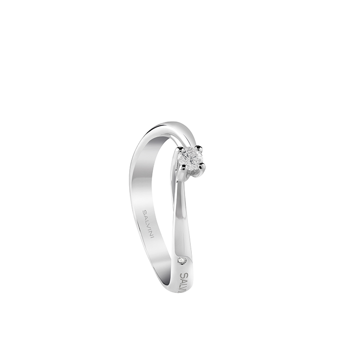 Salvini solitaire ring white gold and diamonds ct 0,13 coll. Dedicated Ref.20082969
