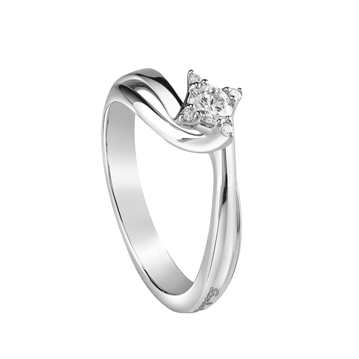 Salvini solitaire ring white gold and diamonds ct 0.19 in Light Ref.20072880