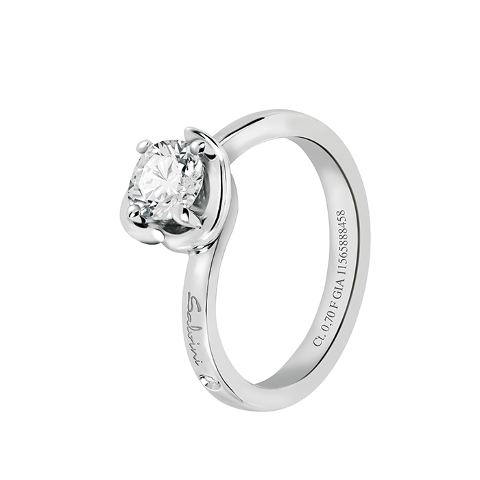 Salvini solitaire Ring white gold with diamonds ct 0,40 Hug Ref.20083216