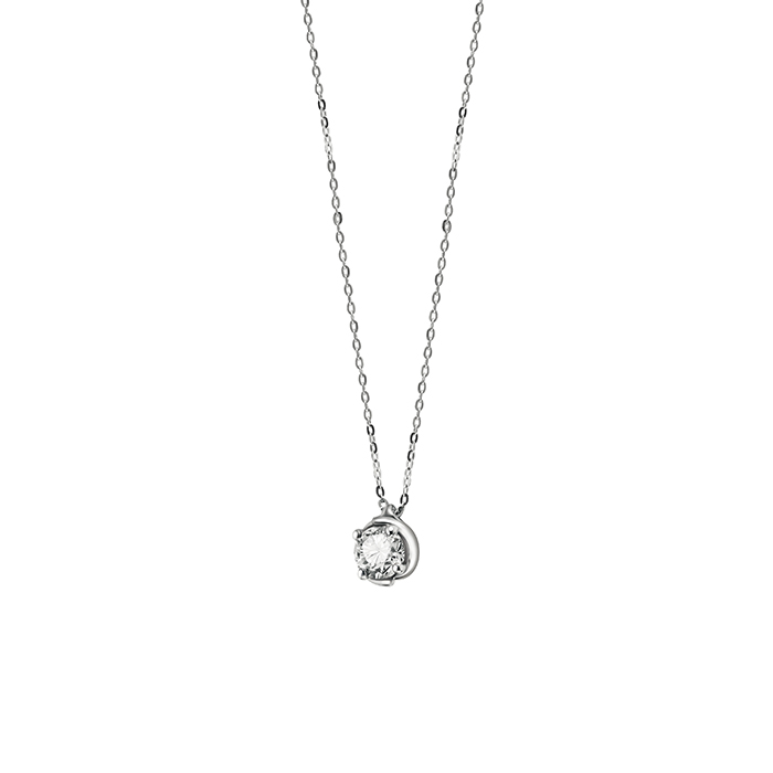 Salvini necklace point light in white gold and diamonds ct 0,21 Hug Ref.20083223