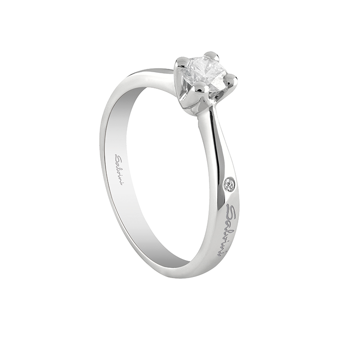 Salvini solitaire Ring white gold with diamond ct 0,20 Virginia Ref.20067672