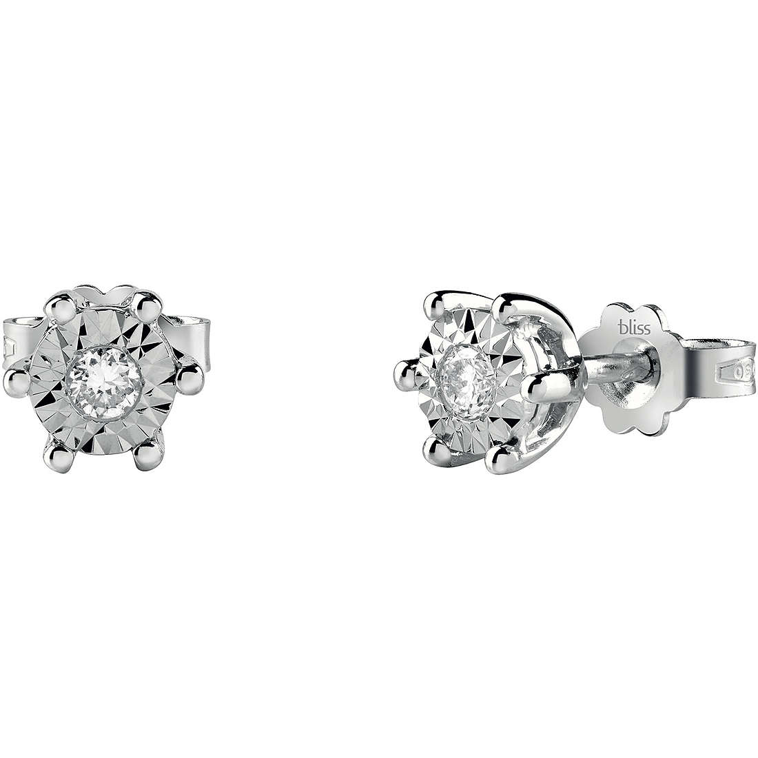 Bliss Earrings point light in white gold and diamonds ct 0,06 Ref. 20082837