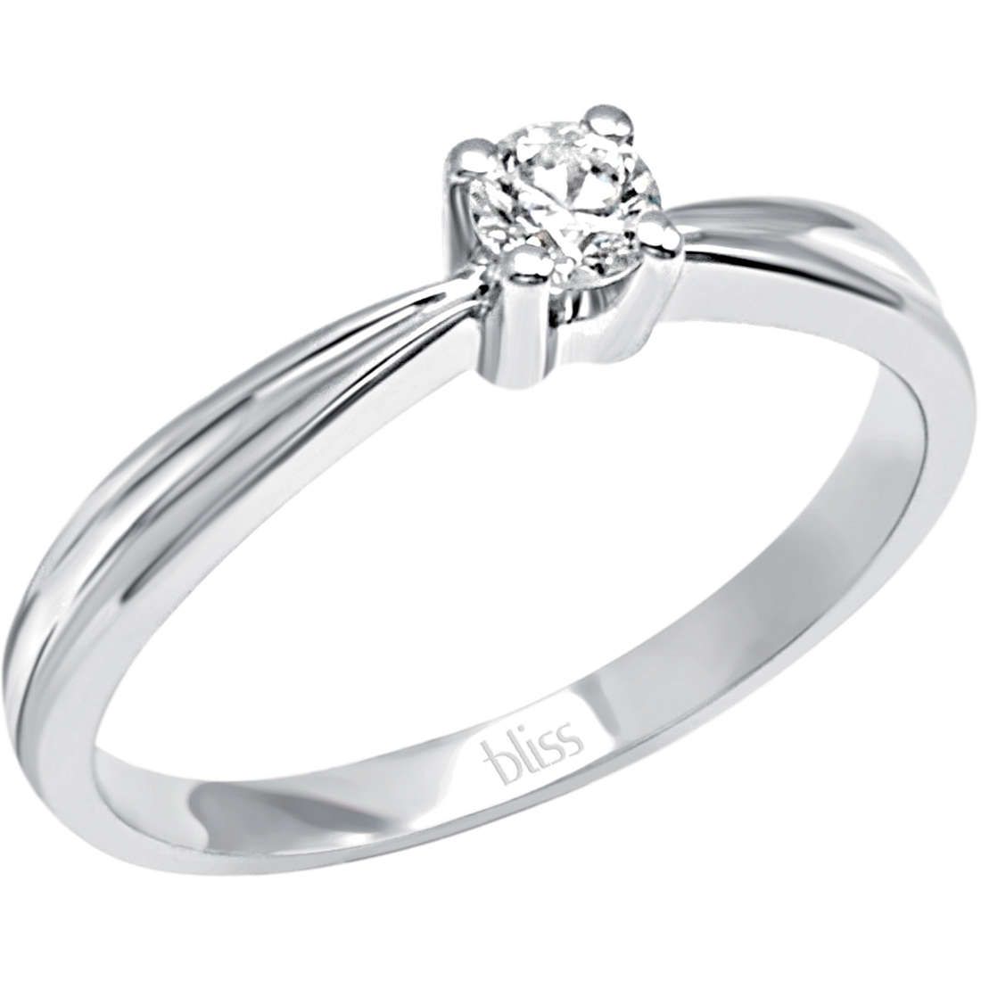 Bliss solitaire ring white gold and diamonds ct 0,06 Athena Ref. 20069847