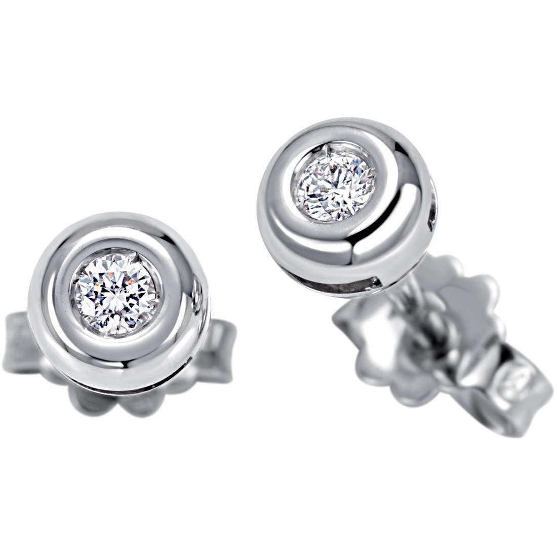 Bliss Earrings point light in white gold and diamonds ct 0,05 Ref. 20060862