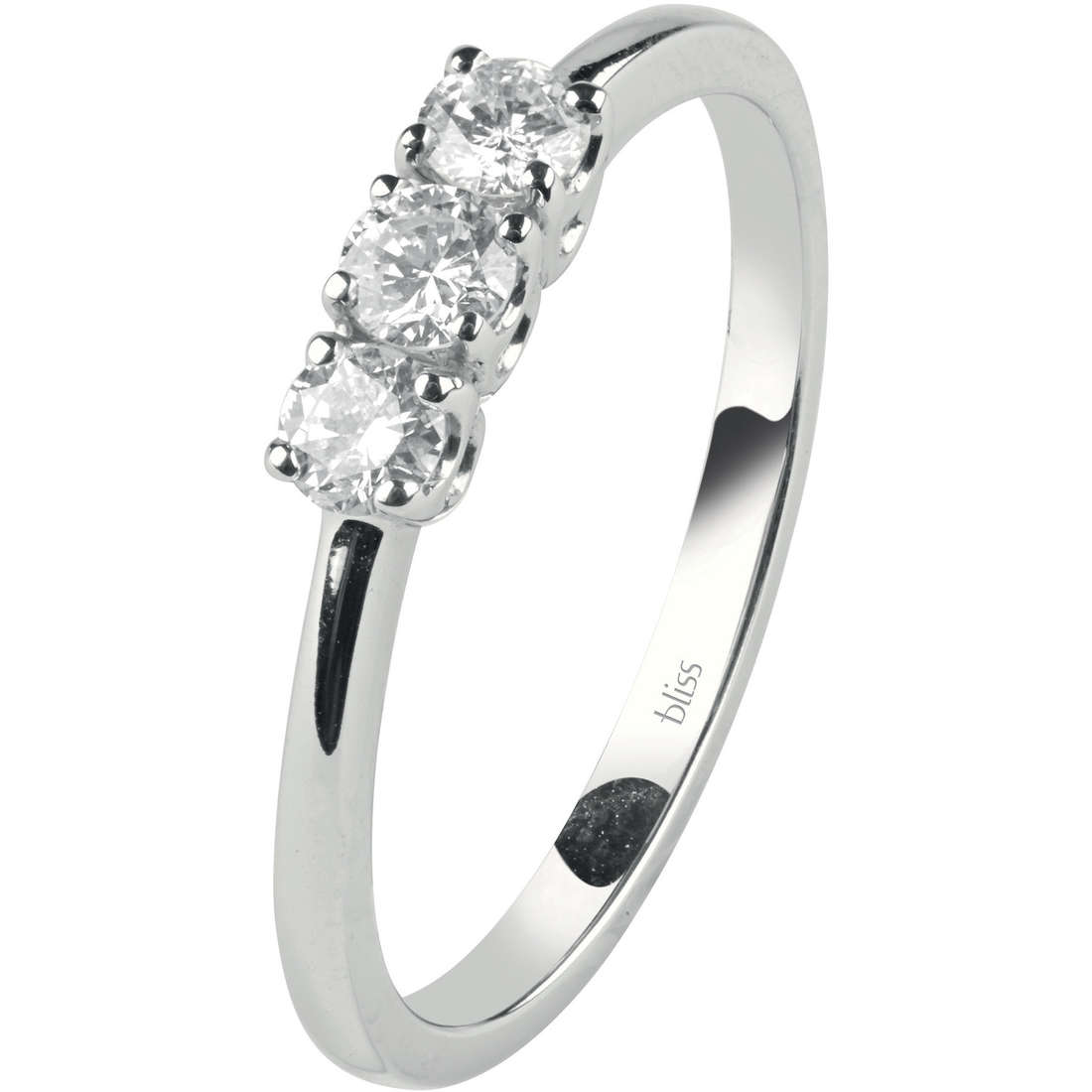 Bliss trilogy Ring Feeling white gold and diamond ct 0,15 Ref.20073217