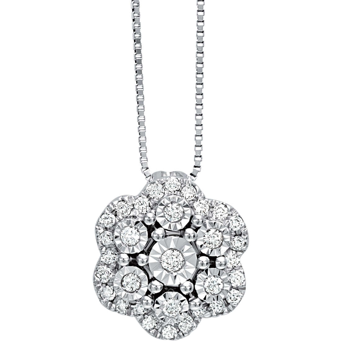 Bliss Collierino With diamonds ct 0.14 in White Gold collection. Elixir Ref.20067367
