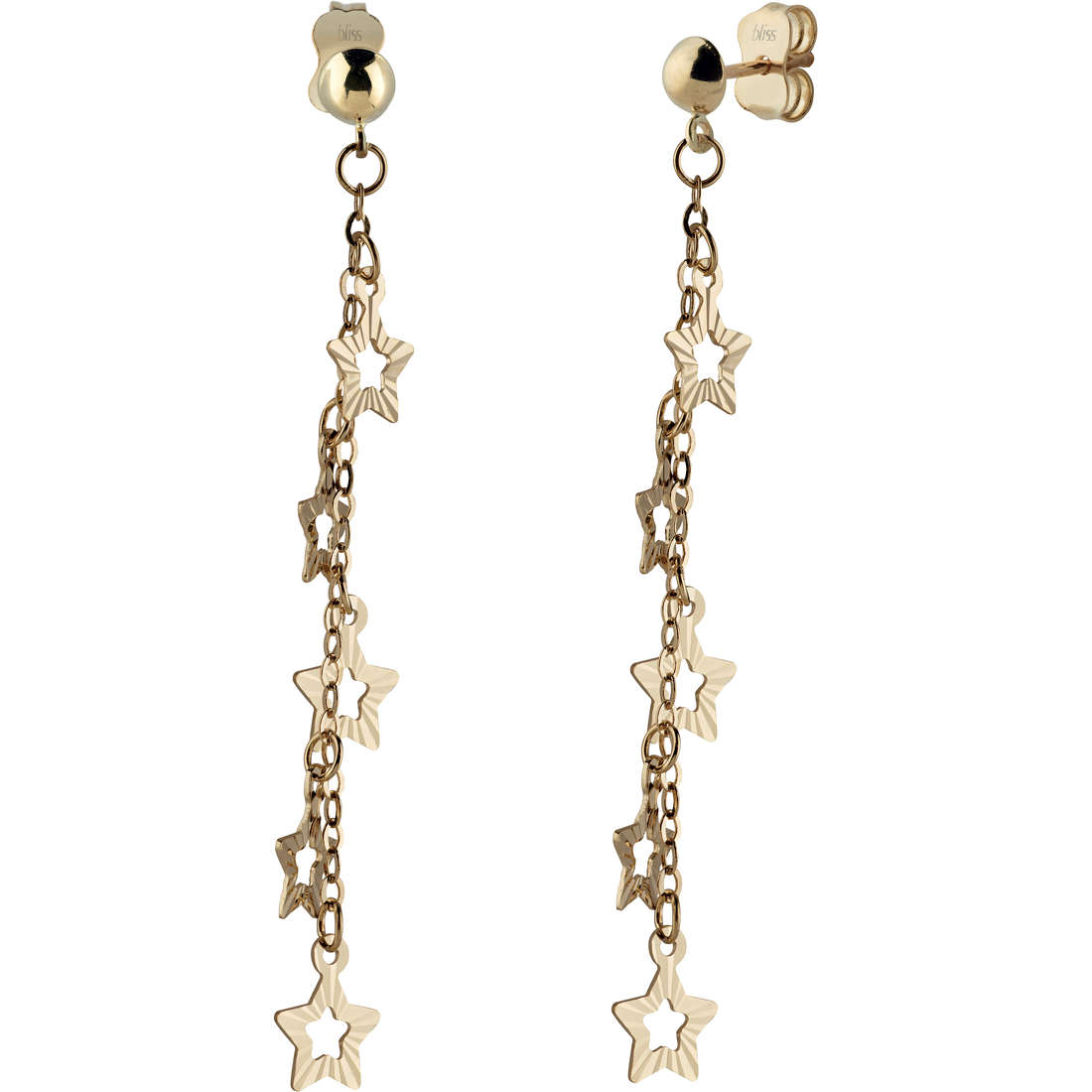 Bliss Earrings yellow gold 18 kt star symbol in the Ref.20071238