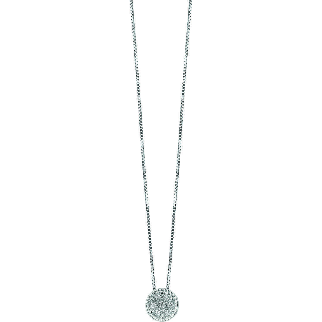 Bliss Necklace First Love White Gold With Round Diamond And 0.021 Ref.20076770