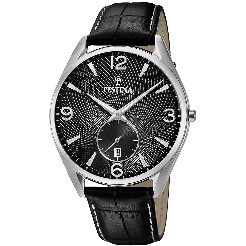 FESTINA watch only time man Festina Retro, Quadr. Black F6857/A