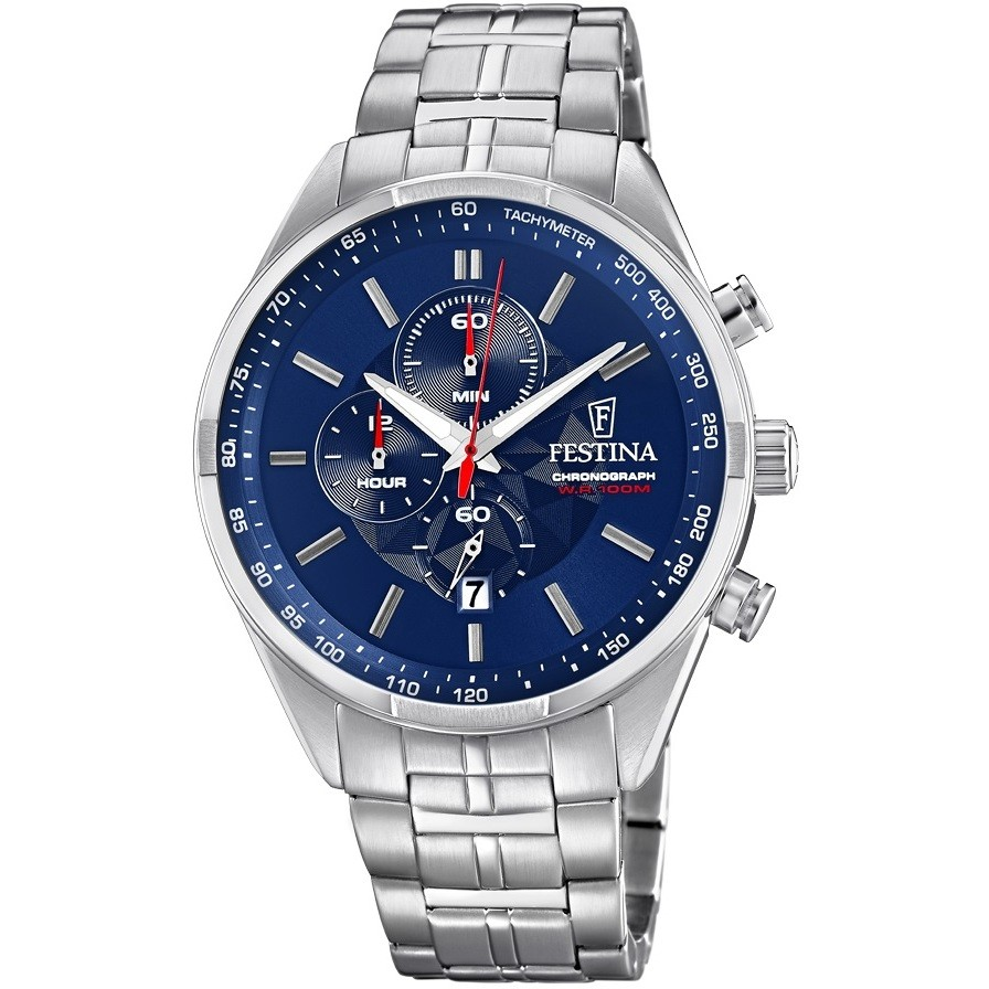 FESTINA chronograph watch man Sports Chrono, quadr. Blue F6863/3
