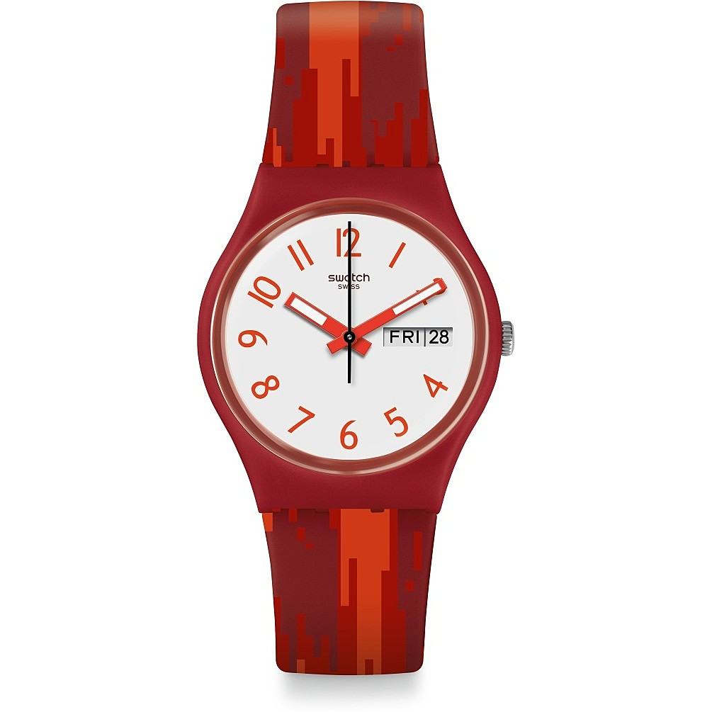 SWATCH Watch Only Time Woman's RED FLAME GR711