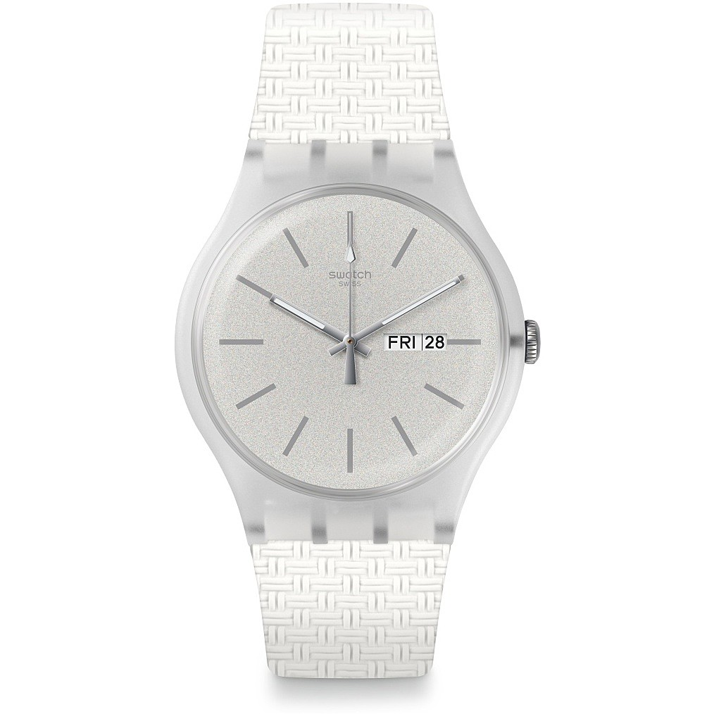 SWATCH Watch Only Time Unisex Bianco41 Mm BRICBLANC SUOW710