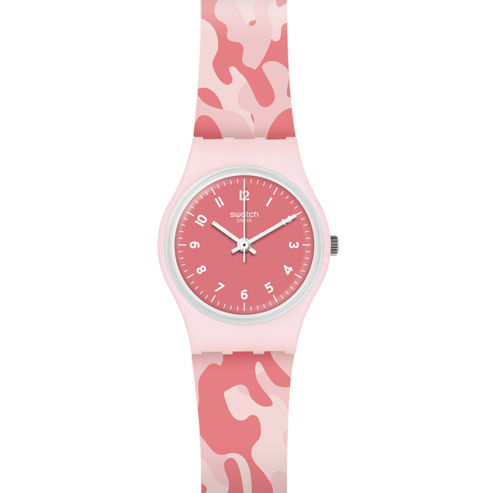SWATCH WATCH WOMEN'S ONLY TIME PINK CAMOUFLAGE CAMOUROSE LP157