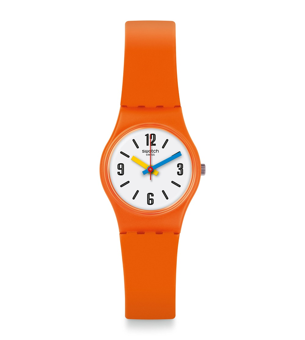 SWATCH WATCH ONLY TIME ORANGE LO114