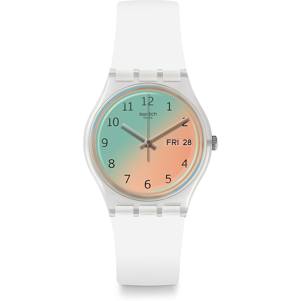 SWATCH Watch Only Time Women's White dial two-tone GE720