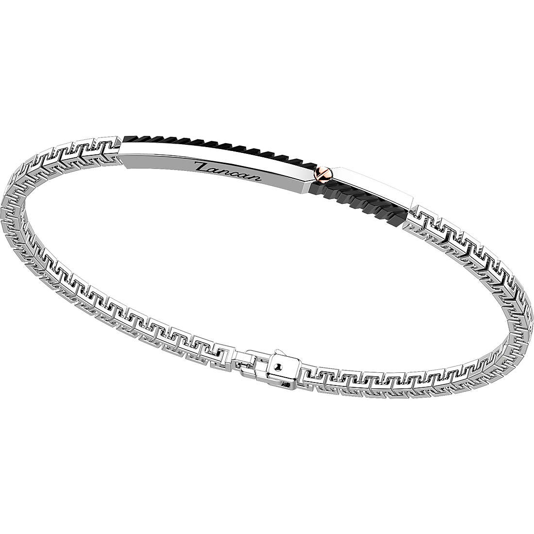 ZANCAN Bracelet with plaque and silver ororosacon spinelli black EXB816R