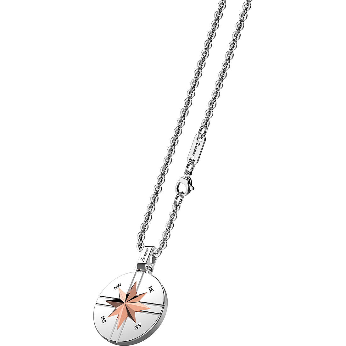 Zancan stainless steel Necklace with star pendant round EHC104