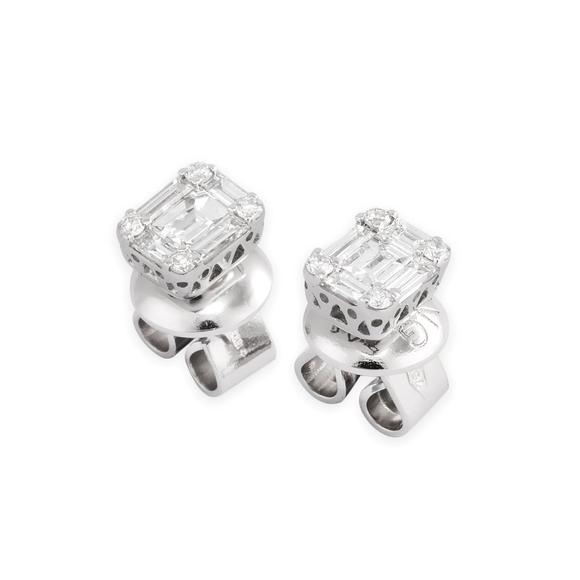 Ponte Vecchio Earrings white gold and diamonds CO1513-20BRW