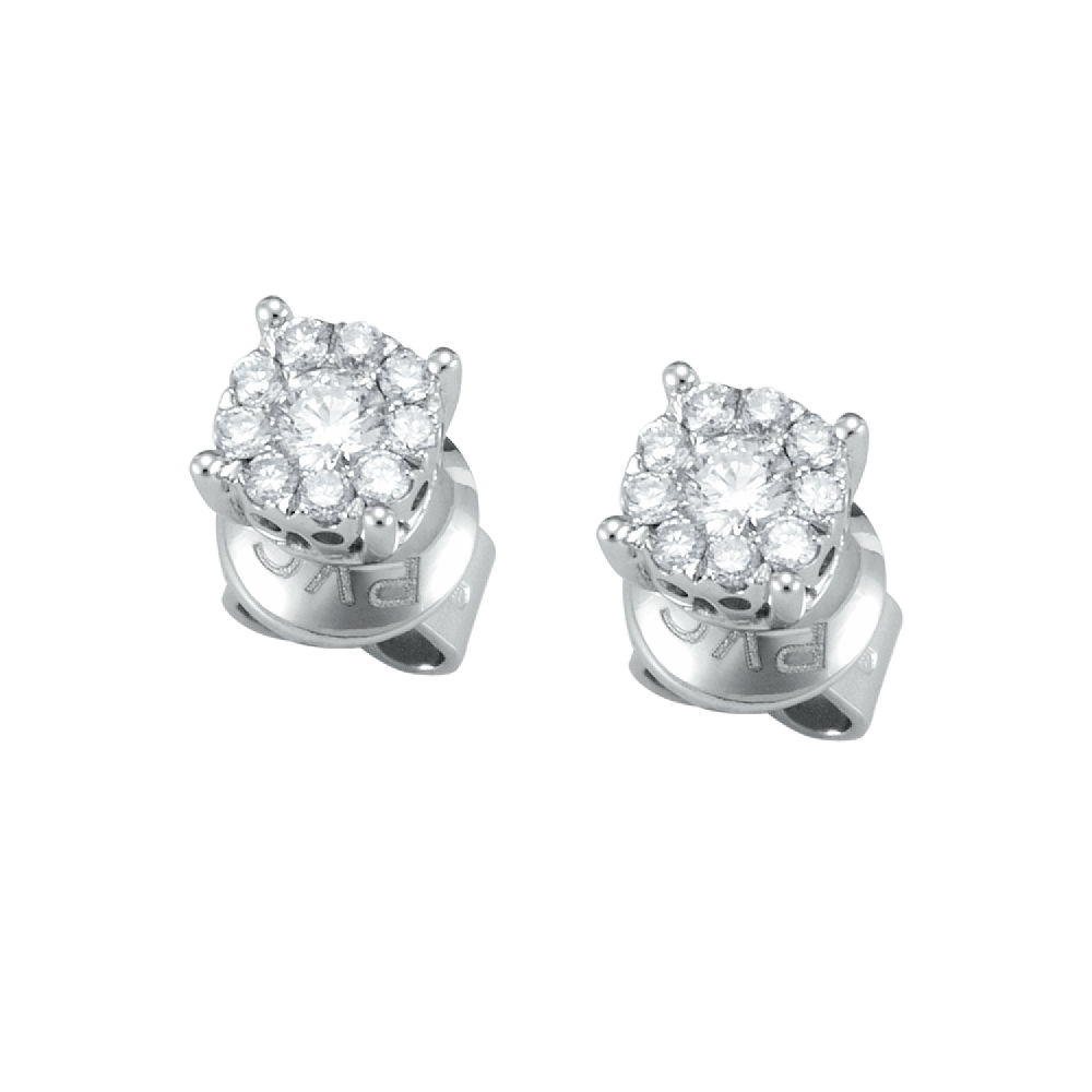 Ponte Vecchio Earrings white gold and diamonds ct 0,30 CO840-15W