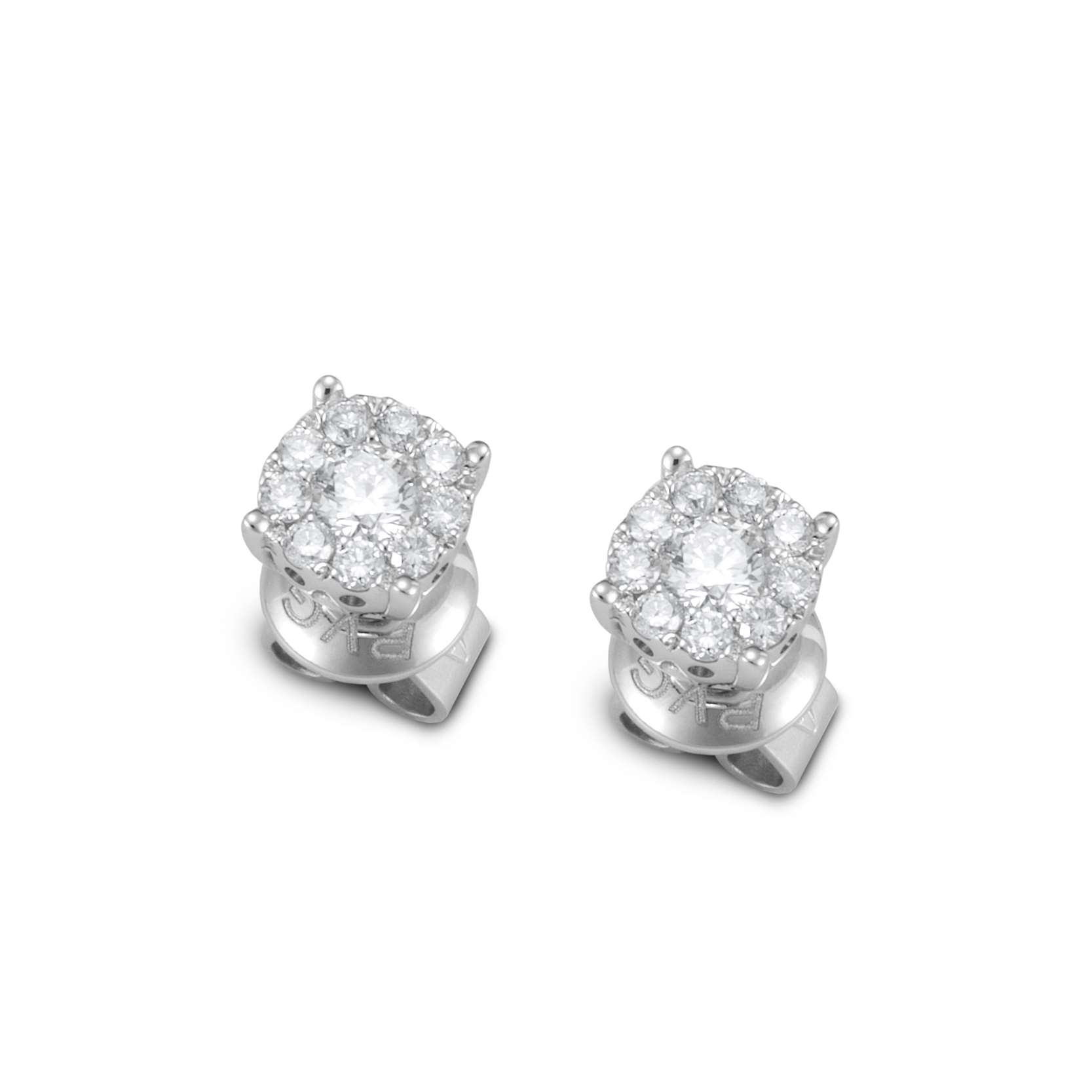 Ponte Vecchio Earrings white gold and diamonds ct 0,40 Ref.CO840-25W