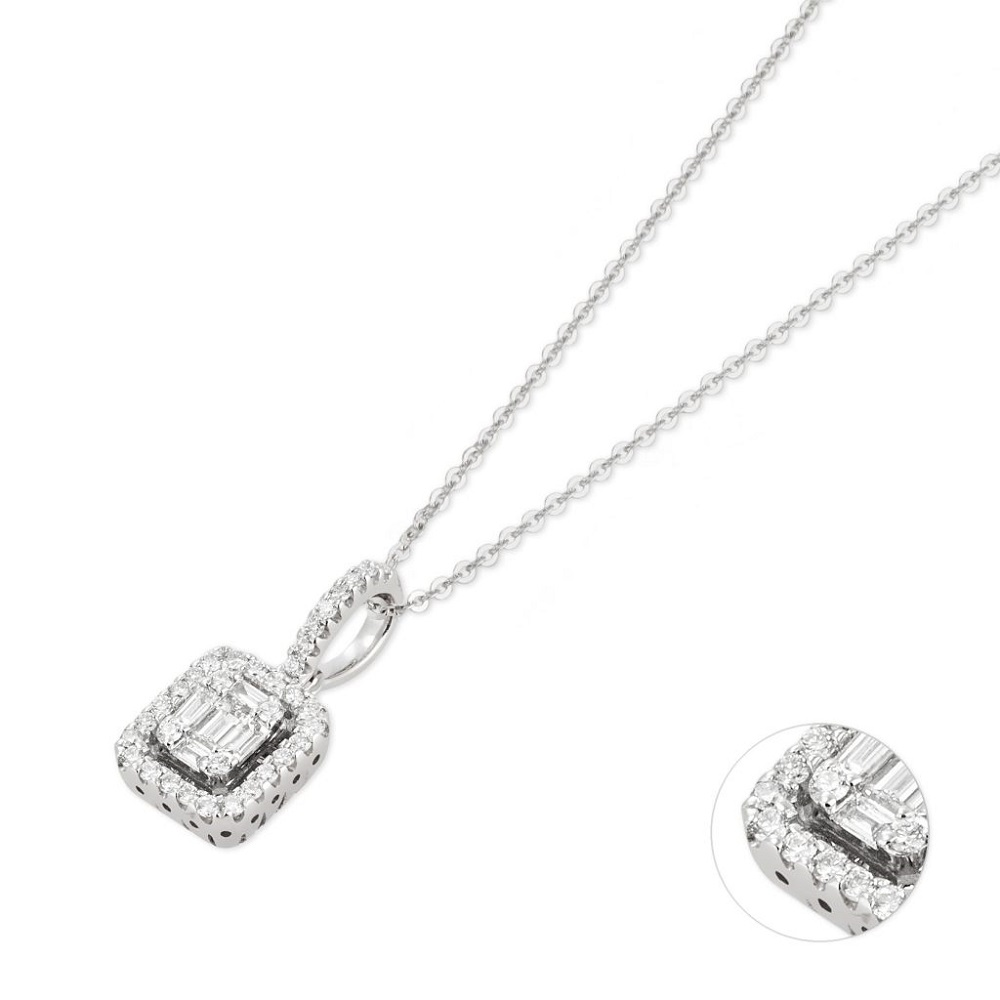 Ponte Vecchio pendant Necklace with diamonds Ref. CP1510-30BRW